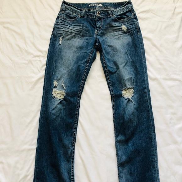 Express Denim - Express Boyfriend Ankle Jeans